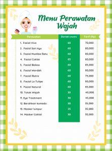 Salon Muslimah Yasna Menu Perawatan Wajah